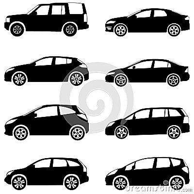 Les voitures silhouettent l ensemble