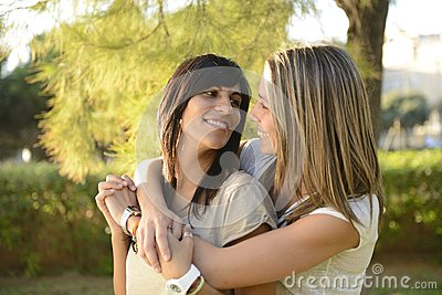 Lesbian Couple Hugging Stock Photos - Image: 26833123