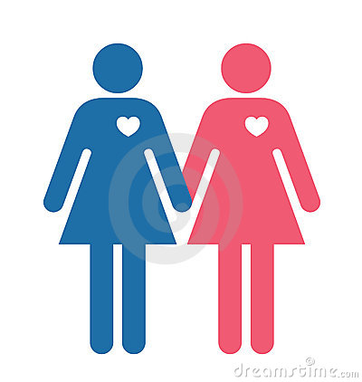 Lesbian Lovers Illustration Stock Photography - Image: 8053162