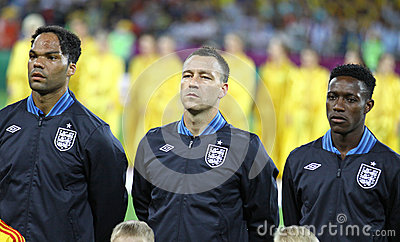 Lescott, Terry and Welbeck of England Editorial Photo
