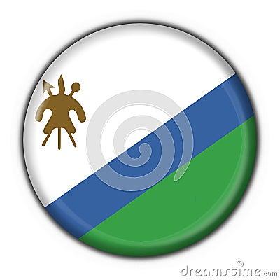 Lesotho button flag round shape