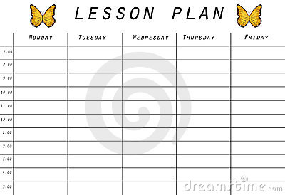 Lesson Plan Prototype Royalty Free Stock Images - Image ...