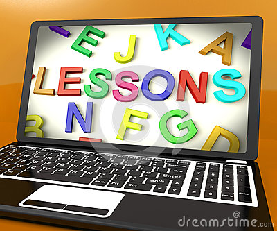 Lessons Message On Computer