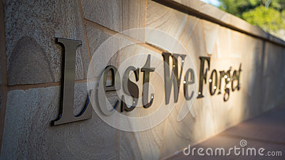 Lest We Forget Editorial Stock Photo