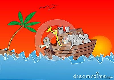 Noahs ark vector Vector Illustration