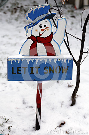 Free Let It Snow Sign Royalty Free Stock Image - 36191416