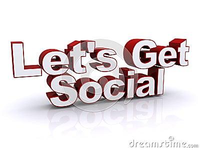 Let s get social sign