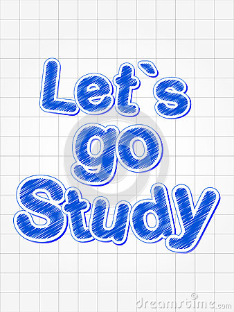 Let s go study in blue over squared sheet