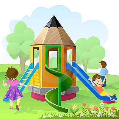 Free Let S Play And Slide Royalty Free Stock Photo - 23030345