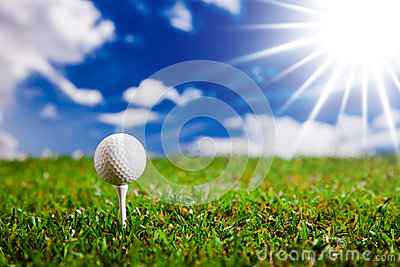 Let s play a round of golf in sunny day!