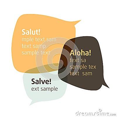Let s talk. Vector bubbles. Insert your text.