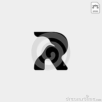 leter R bird monogram logo template vector icon Stock Photo