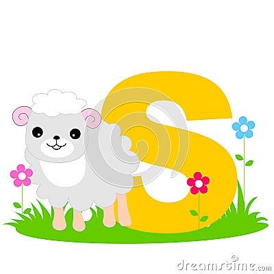 Letra animal do alfabeto - S