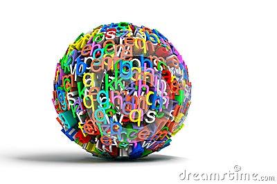 Letras coloridas da esfera