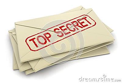 Letras extremamente secretos (trajeto de grampeamento incluído)