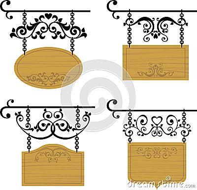 Letreros de madera imagen de archivo imagen 19331231 - Letreros en madera ...