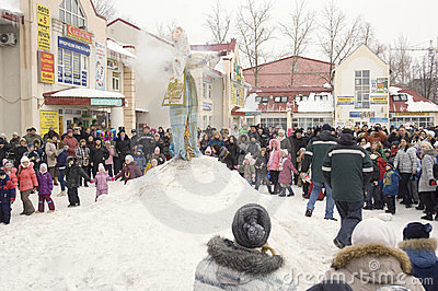 Lets burn the Maslenitsa Editorial Photo