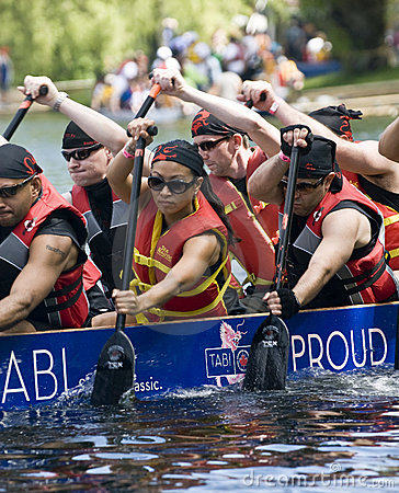 Lets Sink Together DBC Dragon Boat racing Editorial Stock Photo
