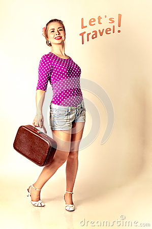 Lets travel with pin up girl