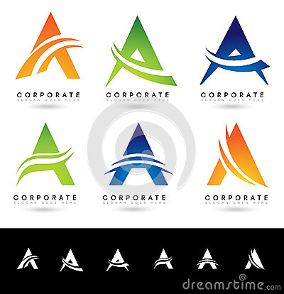 Free Letter A Logo Designs Royalty Free Stock Photography - 59709407