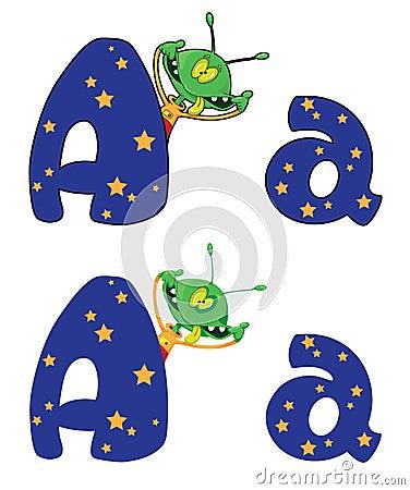 Letter A alien