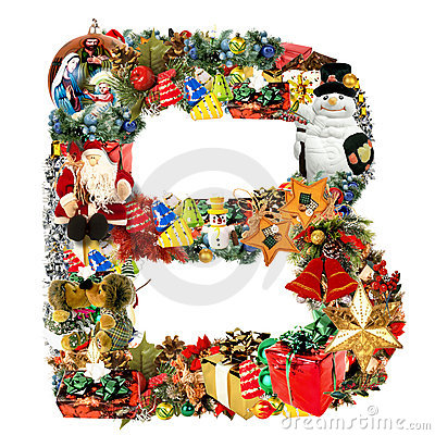 Letter B, for Christmas decoration