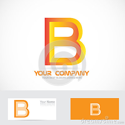 D Letter B Template on cut out, printable box,