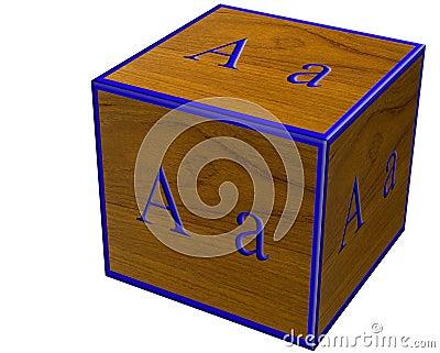Letter A block,