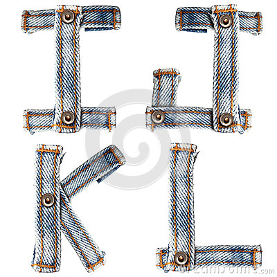 Letter of Blue jeans alphabet