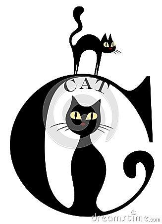 Letter C (cat)