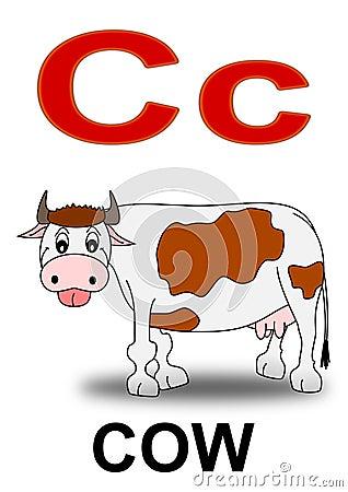 Letter C Cow Stock Photos
