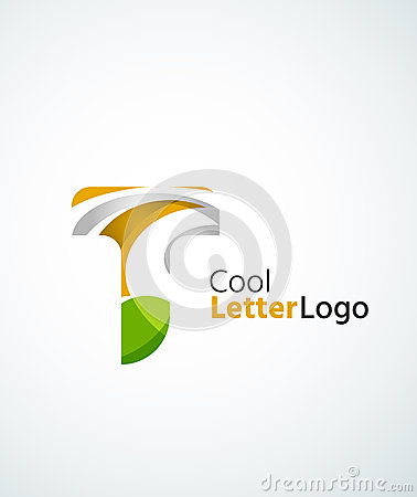 Letter company logo stock vector image 53534112 for Modern cleaning concept