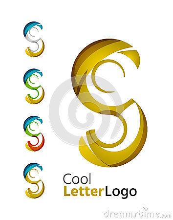 Letter company logo stock vector image 55633582 for Modern cleaning concept