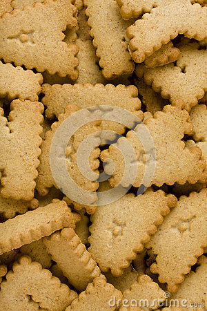 Letter Cookies Background