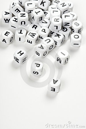 Free Letter Cubes Stock Photography - 8995272