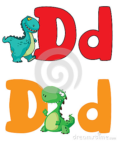 Letter D dinosaur