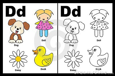 Letter D worksheet