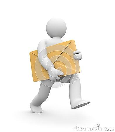 Letter Delivered Or Letter Delivery Stock Image Image