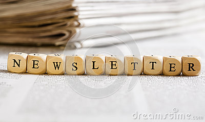 Letter Dices Concept: Newsletter