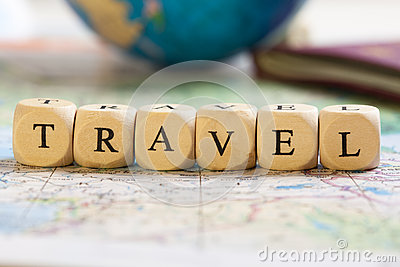 Letter Dices Concept: Travel