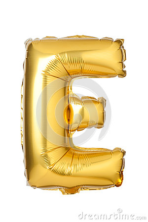 Free Letter E From English Alphabet Of Balloons Stock Photo - 95226540