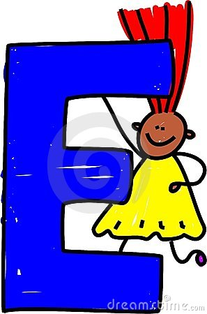 Letter E girl