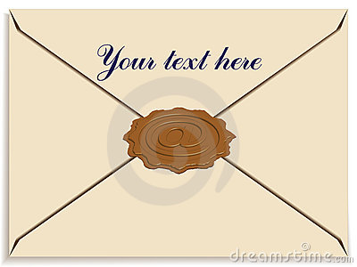 letter envelope size. LETTER ENVELOPE WITH A STAMP