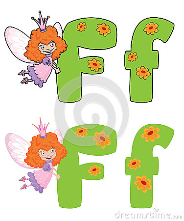 Letter F fairy