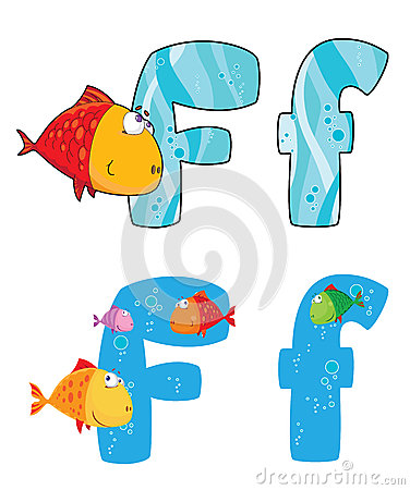 Letter F fish