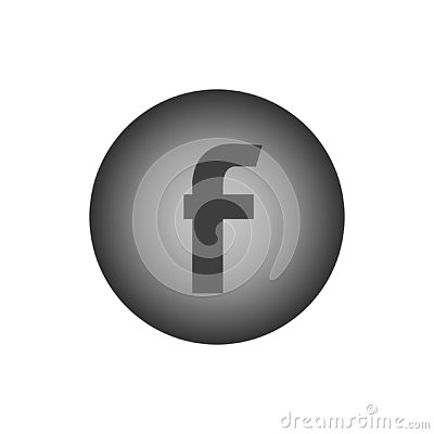 Letter F. Flat web icon Vector Illustration