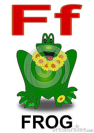 Letter F frog