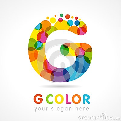 Free Letter G Colourful Bubbles Logo Royalty Free Stock Photography - 116865207