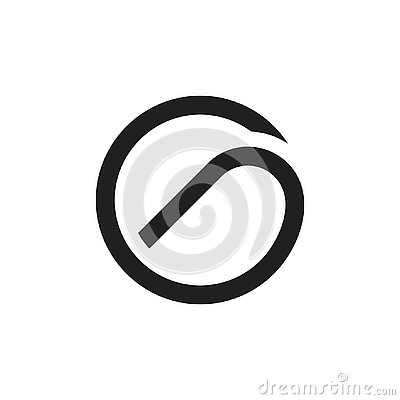 Free Letter G Curves Circle Lines Geometric Logo Royalty Free Stock Image - 143955536