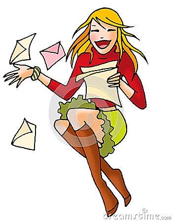 Letter girl 03